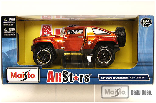 These came in today, 1:24/1:26 scale AllStars, 2008 Hummer HX Concept and