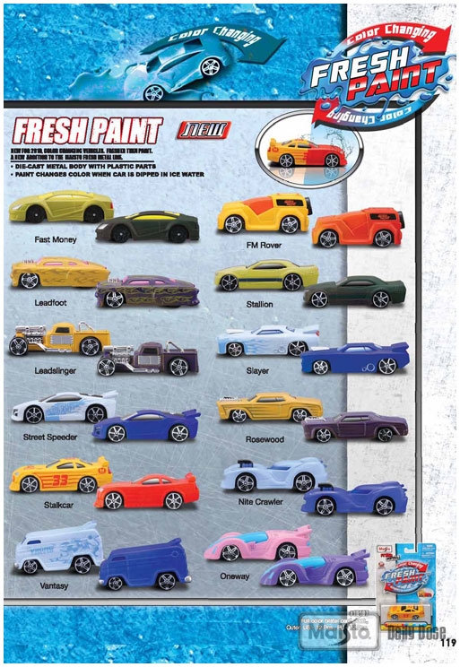 Fresh Paint Color Changing 3 Die Cast New For 2010